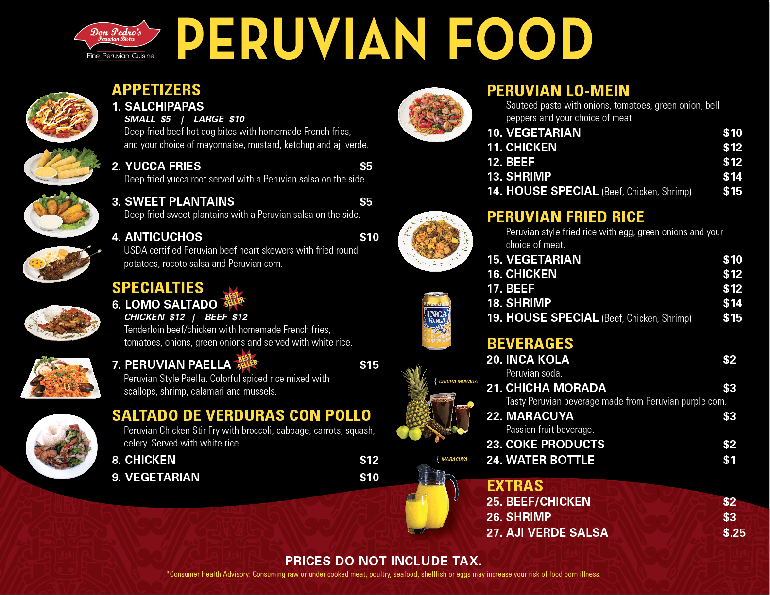Tucson Food Truck Menu, Peruvian Food Tucson, Best food trucks Tucson